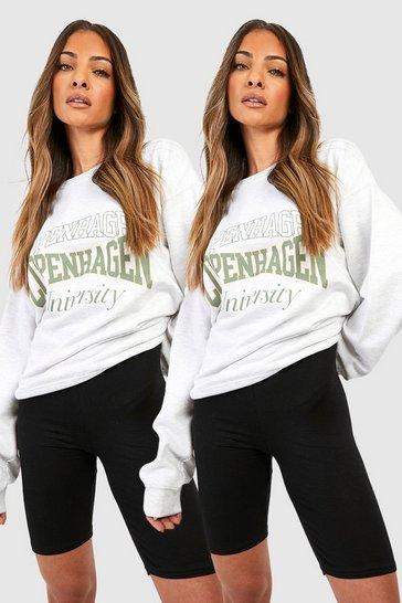Black 2 Pack Basic Cycling Shorts