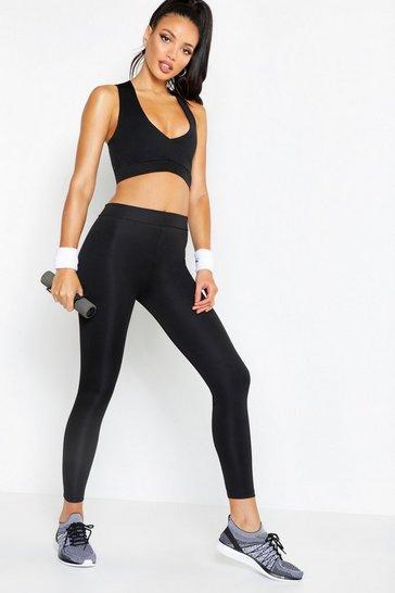 Black Fit High Waisted Running Leggings