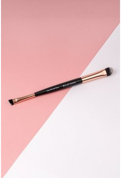 Rose gold metallic Brushworks Double Ended Eye Brush