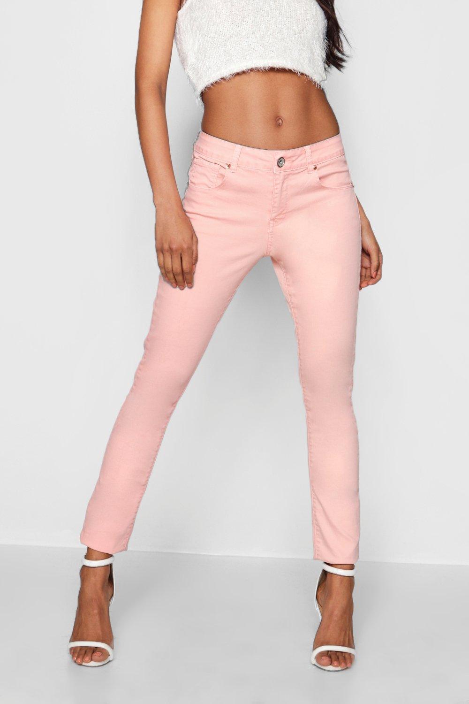 Light Pink Skinny Jeans | Boohoo UK