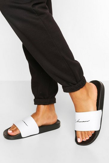 Black Woman Slogan Sliders