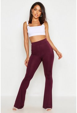 Berry red High Waist Basic Skinny Flares