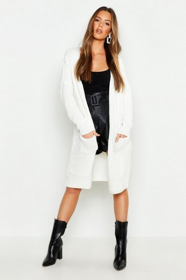 Cream white Oversized Boyfriend Cardigan