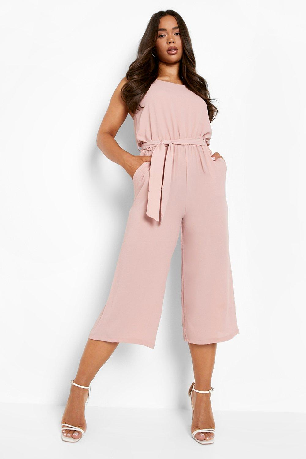 Don't Miss Out Woven Sleeveless Culotte Jumpsuit
