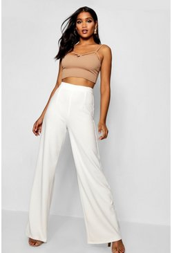 Ivory white Wide Leg Trouser