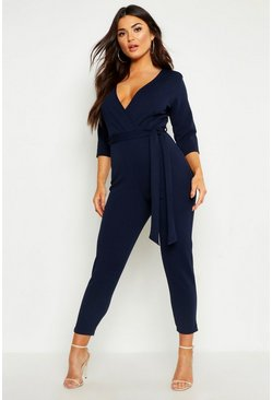 Navy Wrap Jumpsuit