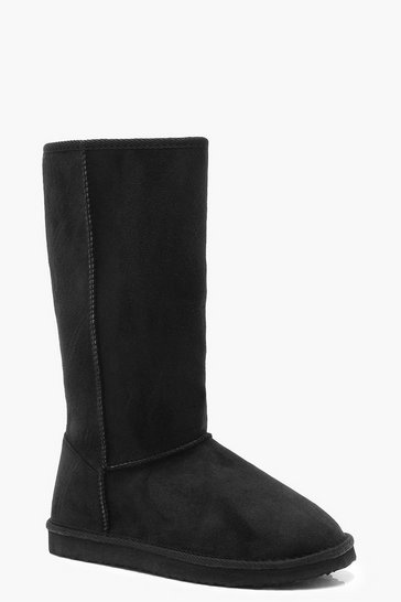 Black Calf High Cosy Shoe Boots