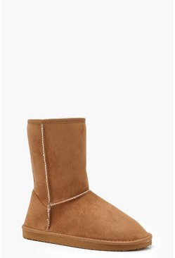 Tan Cosy Shoe Boots