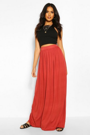 Brick Floor Sweeping Jersey Maxi Skirt