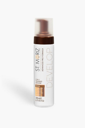Medium brown brown St. Moriz Pro 5 in 1 Tan Mousse Medium
