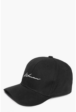 Black Woman Script Embroidered Cap
