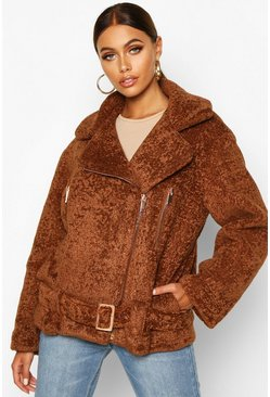 Cumin brown Premium Faux Fur Aviator