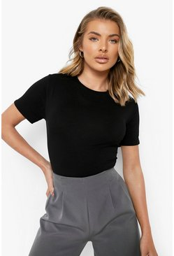 Black Basic T-Shirt Bodysuit