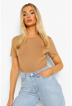 Camel Basic T-Shirt Bodysuit