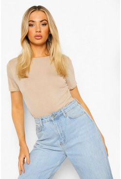 Ecru Basic T-Shirt Bodysuit