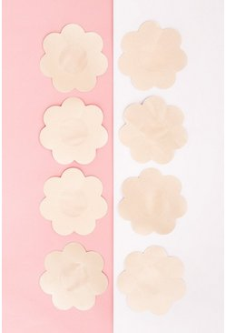 Brushworks Nude Satin 4pk Nipple Covers