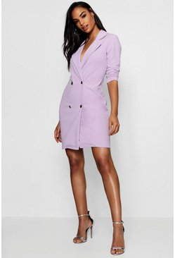 Lilac purple Blazer Dress