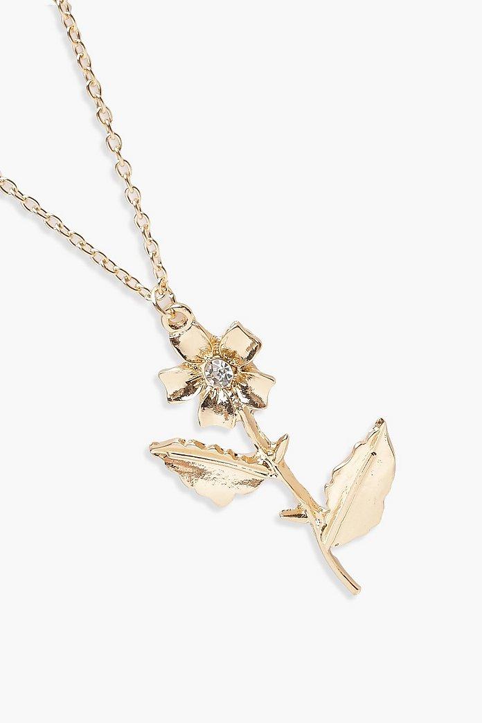Mehrlagige Halskette mit Emily Rose und Strasssteinen | boohoo