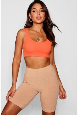 Tangerine orange Crepe Bralet