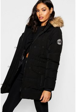 Black Luxe Mountaineering Parka