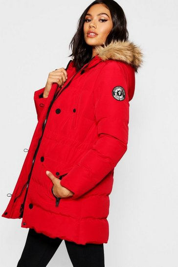 Red Luxe Mountaineering Parka