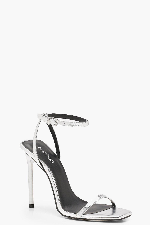 Metallic Square Toe Heels | boohoo Canada