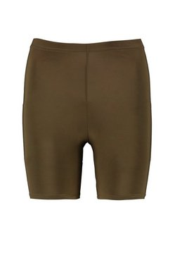 Khaki Basic Slinky Cycling Short