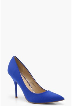 Cobalt blue Pointed Toe Mid Heel Shoes