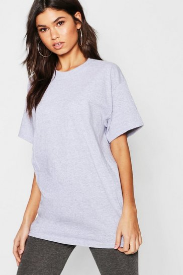 Grey marl grey Grey Basic Oversized Boyfriend T-Shirt