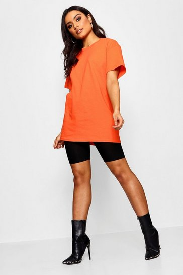 Tangerine orange Orange Basic Oversized Boyfriend T-Shirt