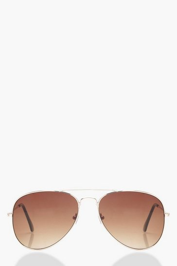 Aviator Brown Lens Sunglasses