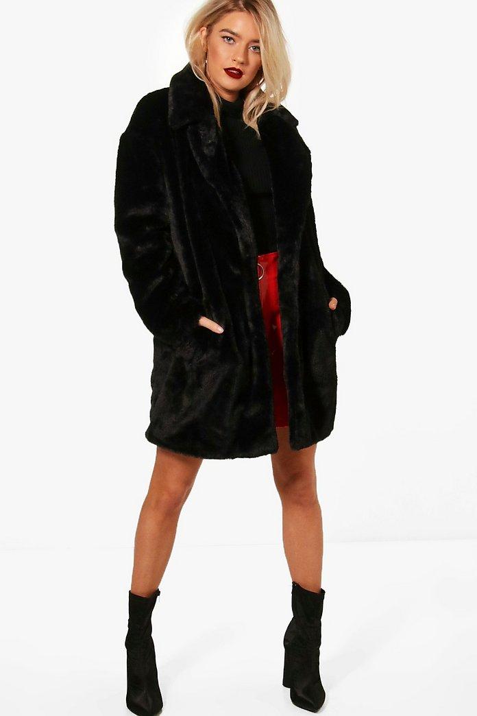 Boutique Faux Fur Coat | Boohoo UK