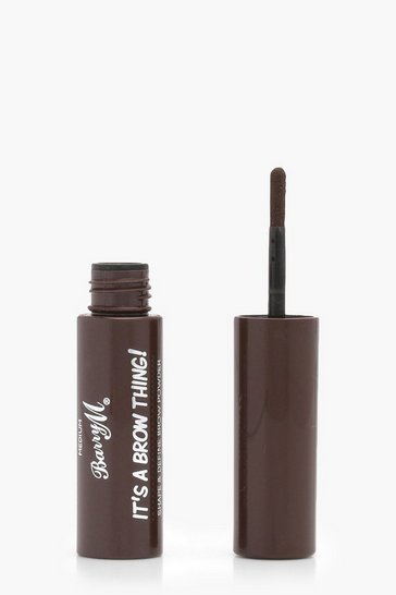 Medium brown brown Barry M It's A Brow Thing Powder- Medium