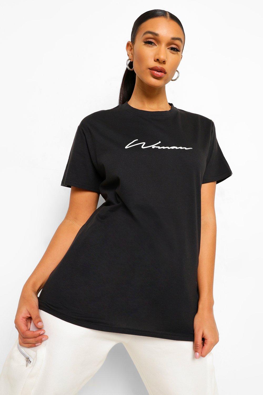 TOPS Black Woman Signature T-Shirt