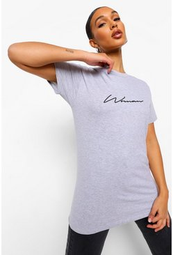 Grey marl grey Woman Signature T-Shirt