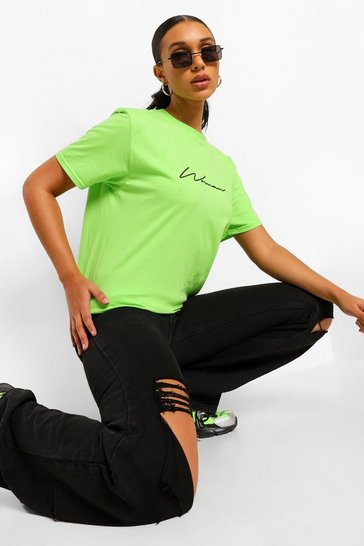 Lime green Green Woman Signature T-Shirt