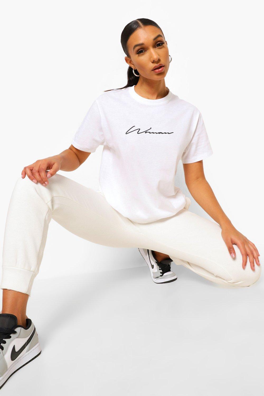 TOPS White Woman Signature T-Shirt