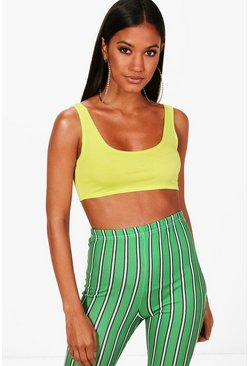 Lime green Basic Square Neck Bralet