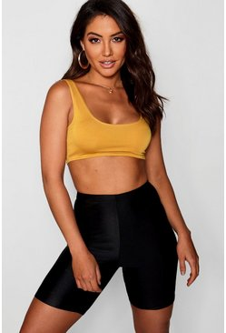 Mustard yellow Basic Square Neck Bralet