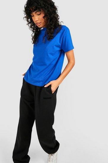 Indigo blue Blue Basic Oversized Boyfriend T-Shirt