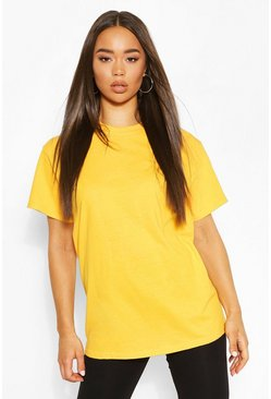 Mustard yellow Basic Oversized Boyfriend T-shirt