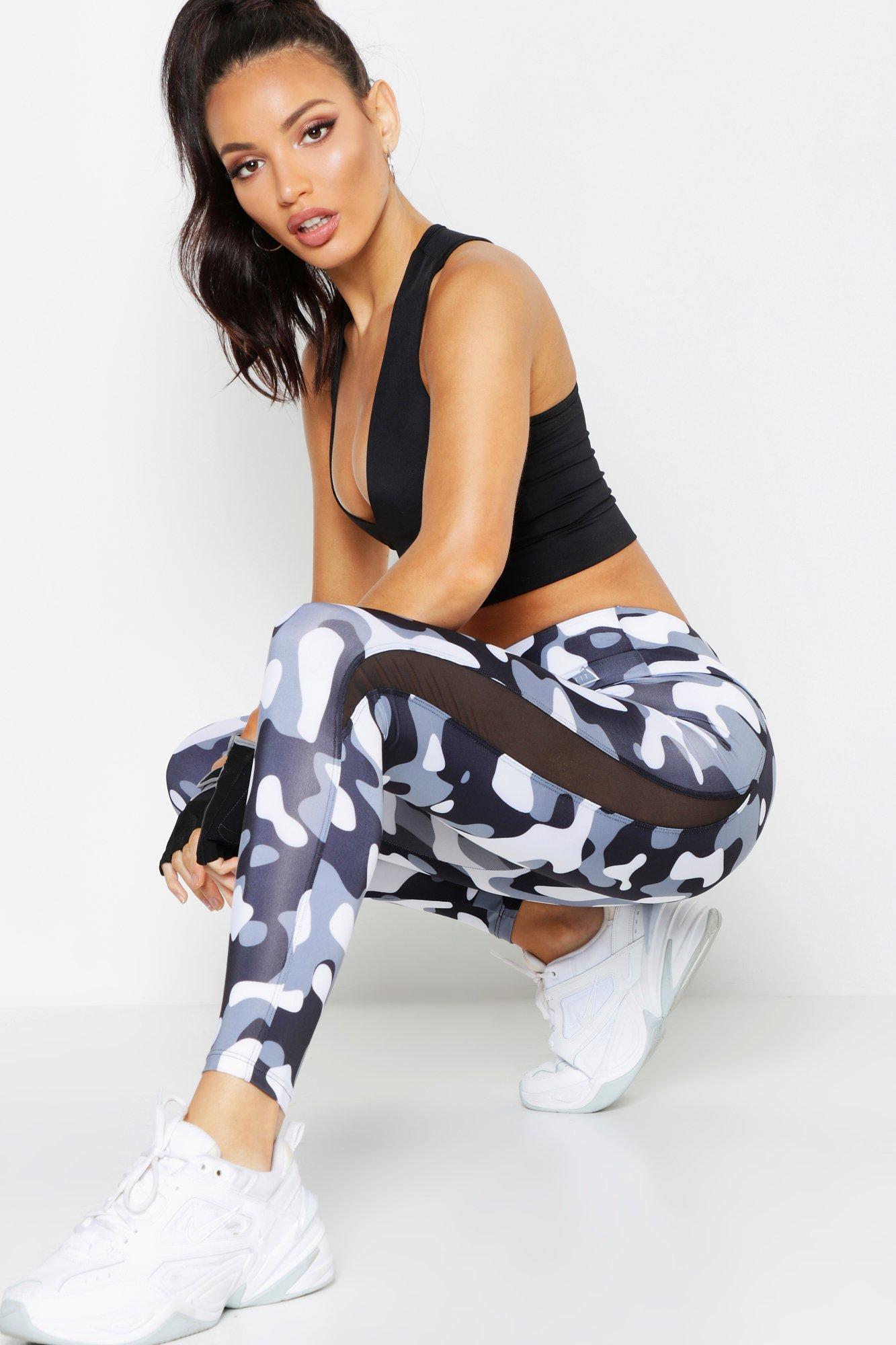Gym Wear Fit Camo Running Leggings