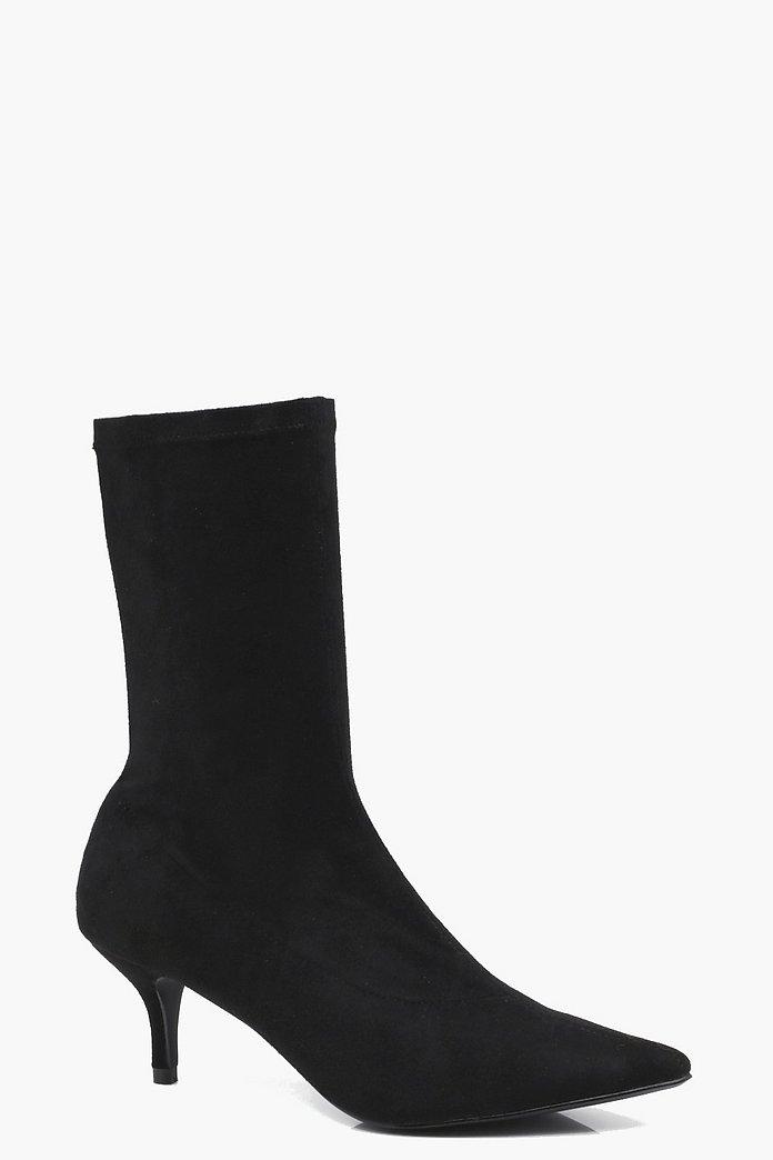 Kitten Heel Black Boots