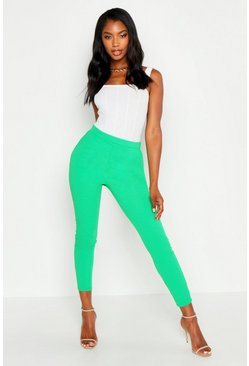 Leaf green green Basic Crepe Super Stretch Skinny Pants
