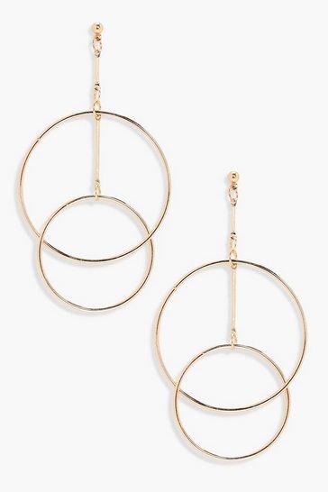 Gold metallic Layered Hoop Earrings