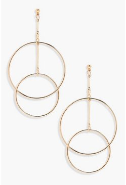 Gold metallic Layered Hoop Earrings