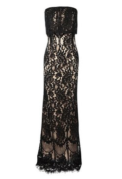 Black Boutique  Scallop Lace Bandeau Maxi Dress