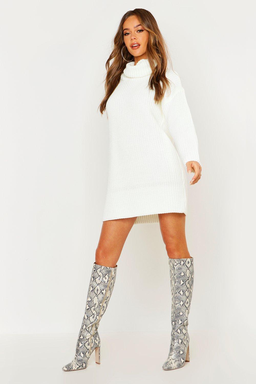 Knitwear Roll Neck Jumper Dress