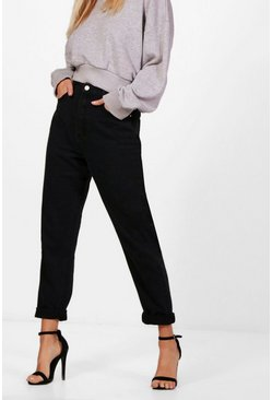 Black High Rise Mom Jeans