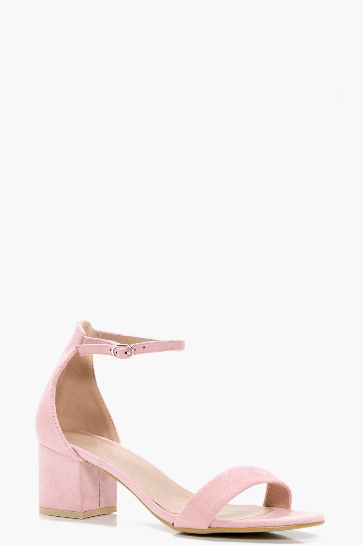 pink block heels uk